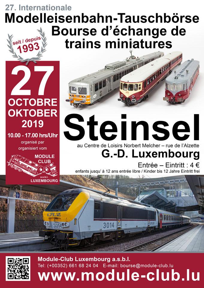 Bourse internationale d´échange de trains miniatures (Steinsel) 27.10.19 Plakat-2019